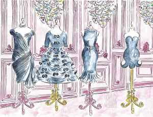 Little Black Dresses LBD Paris France Haute-Couture fashion week fine art painting Barbara Redmond Fashion