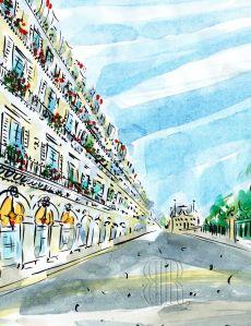 Rue de Rivoli, Paris, by Barbara Redmond