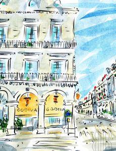 Rue, St.-Honoré, Paris, by Barbara Redmond