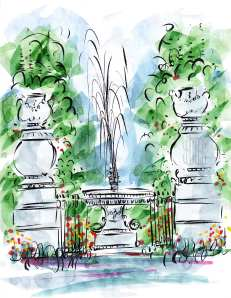 Jardin des Tuileries Paris France Barbara Redmond fine art paintings of Paris