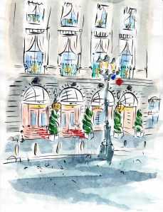Hotel Ritz Paris France Barbara Redmond L'Espadon Ernest Hemingway Cesar Ritz Auguste Escoffier fine art paintings of Paris