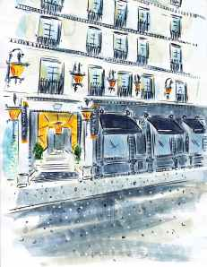 Hotel Costes Paris France Barbara Redmond fine art paintings of Paris