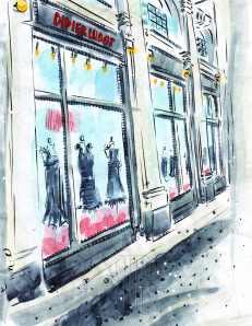 Didier Ludot Little Black Dress shop Paris France Barbara Redmond fine art paintings of Paris