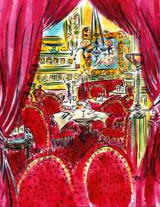 Hotel Costes Paris France Barbara Redmond fine art painting of Paris