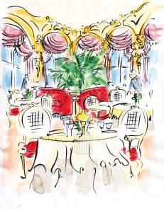 L'Espadon Hôtel Ritz Paris France Barbara Redmond cuisine Le Cordon Bleu Escoffier fine art painting