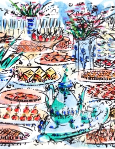 Paris tea table, by Barbara Redmond