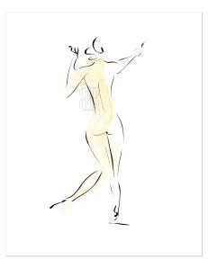 Hanako No.1, homage to Rodin, Paris by Barbara Redmond fine art paintings of Paris
