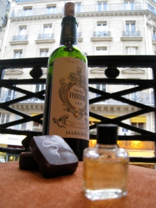 French perfume, chocolate and wine, photo by Barbara Redmond