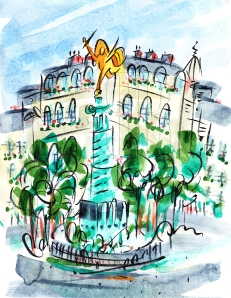 Place de la Bastille, Paris by Barbara Redmond