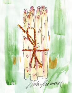 French White Asparagus, by Barbara Redmond