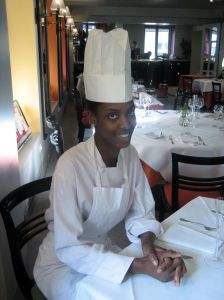 Rougui Dia, head chef at Petrossian Paris