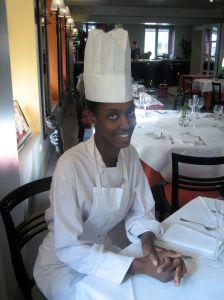 Rougui Dia, head chef at Petrossian Paris