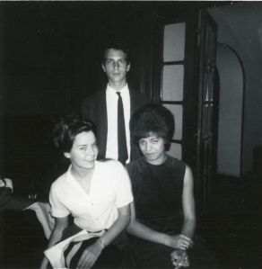 Angela Davis on Hamilton Study Abroad Program with Howard Bloch and Dianna Summer, Fall 1963. Photograph courtesy of Jane Jordan.