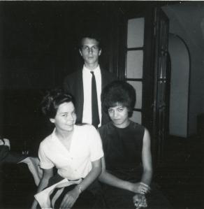 Angela Davis on Hamilton Study Abroad Program with Howard Bloch and Dianna Summer, Fall 1963. Photograph courtesy of Jane Jordan.