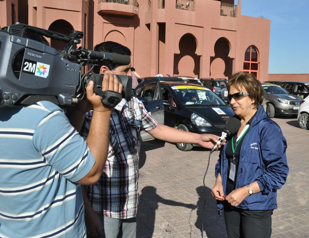L'organisatrice interviewée par la deuxième chaine TV marocaine