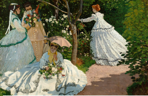 Claude Monet (French 1840-1926). Women in the Garden (detail), 1866. Oil of canvas: 100 3/8 x 80 11/16 in. Musée d'Orsay, Paris