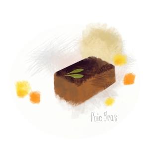 Foie Gras, by Michelle Schwartzbauer
