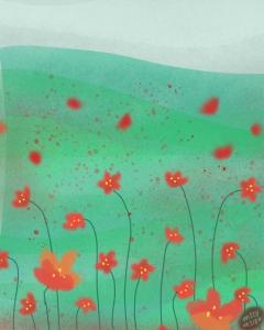 Poppies, Normandy, France by Michelle Schwartzbauer