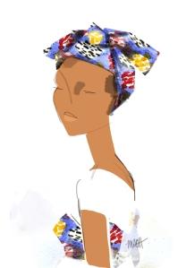 Sénégalese woman, by Michelle Schwartzbauer
