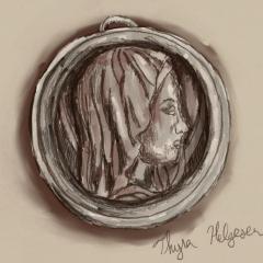 Lourdes medal, by Thyra Helgesen